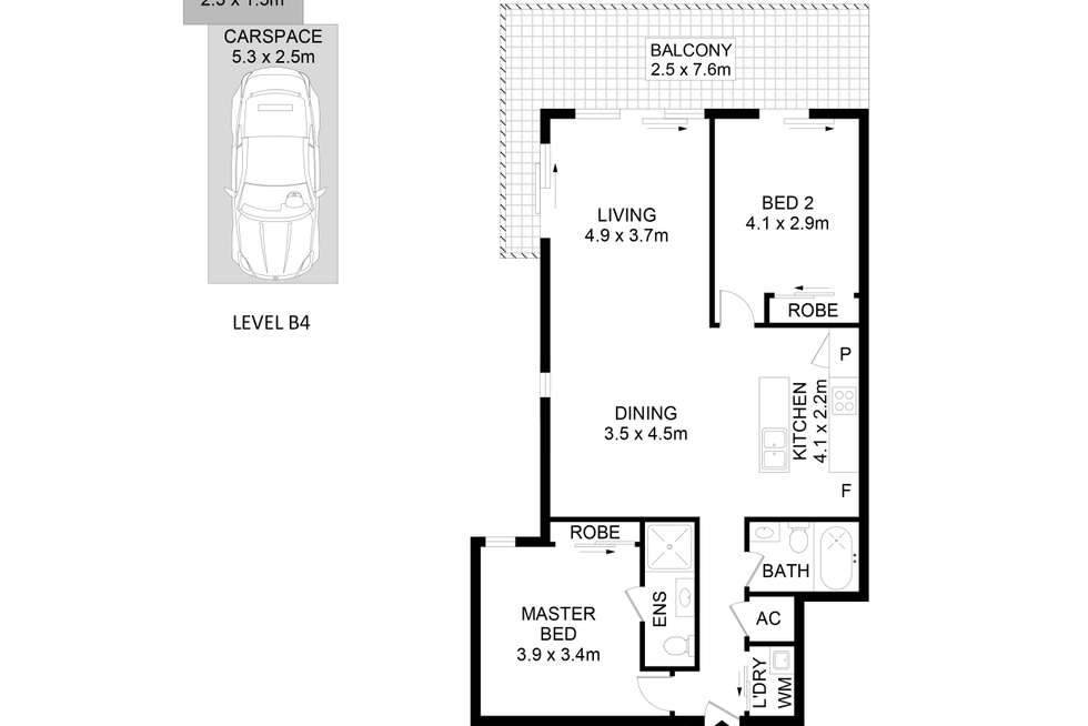 Floorplan of Homely apartment listing, 202/6 East Street, Granville NSW 2142