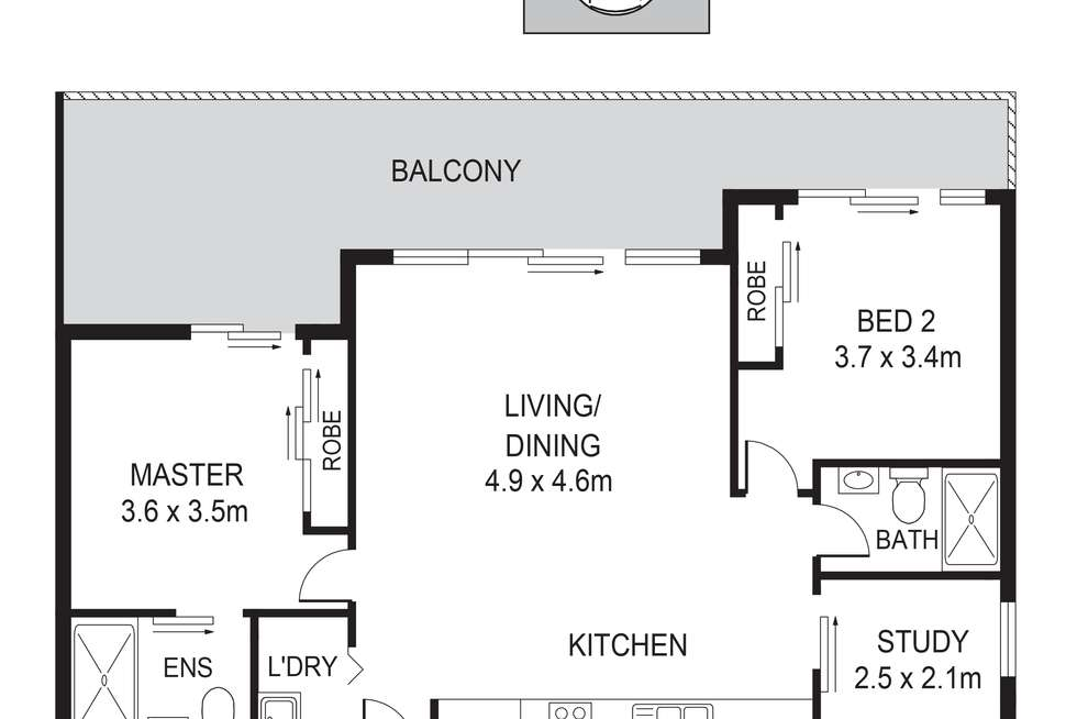 Floorplan of Homely apartment listing, 1106B/250 Liverpool Road, Ashfield NSW 2131