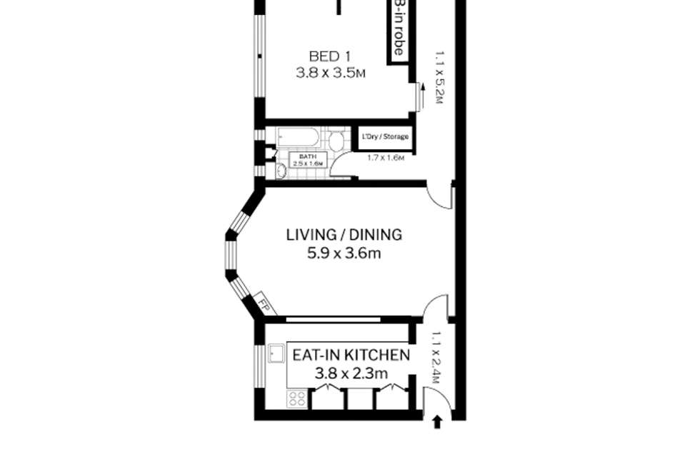 Floorplan of Homely apartment listing, 1/2 Iluka Street, Rose Bay NSW 2029