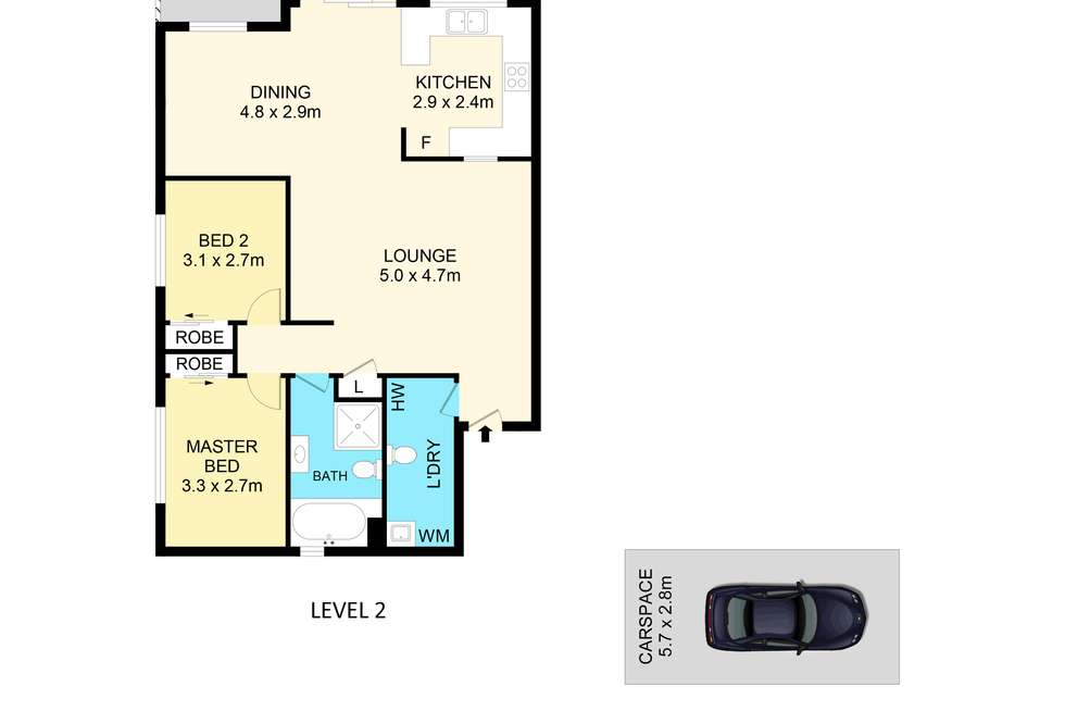 Floorplan of Homely unit listing, 6/30-32 Lennox Street, Parramatta NSW 2150