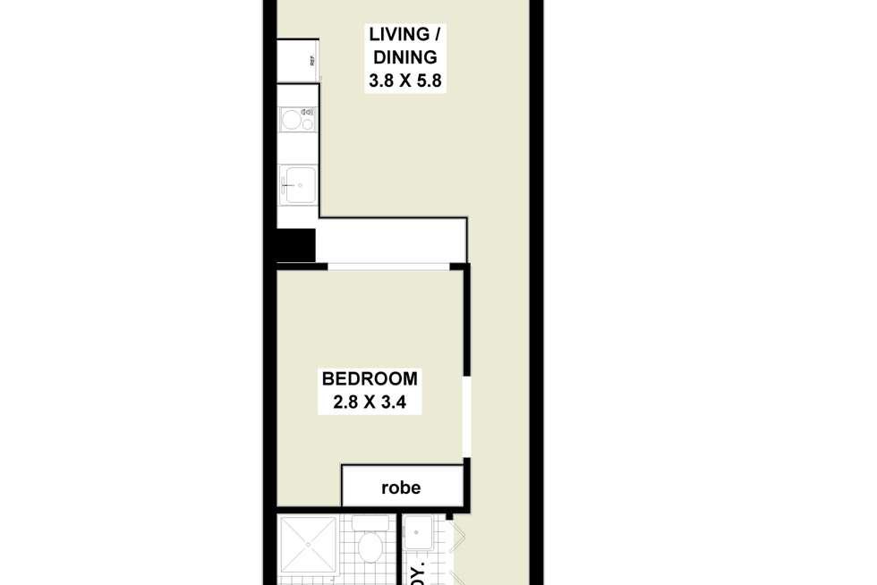 Floorplan of Homely apartment listing, 205/15 Atchison Street, St Leonards NSW 2065
