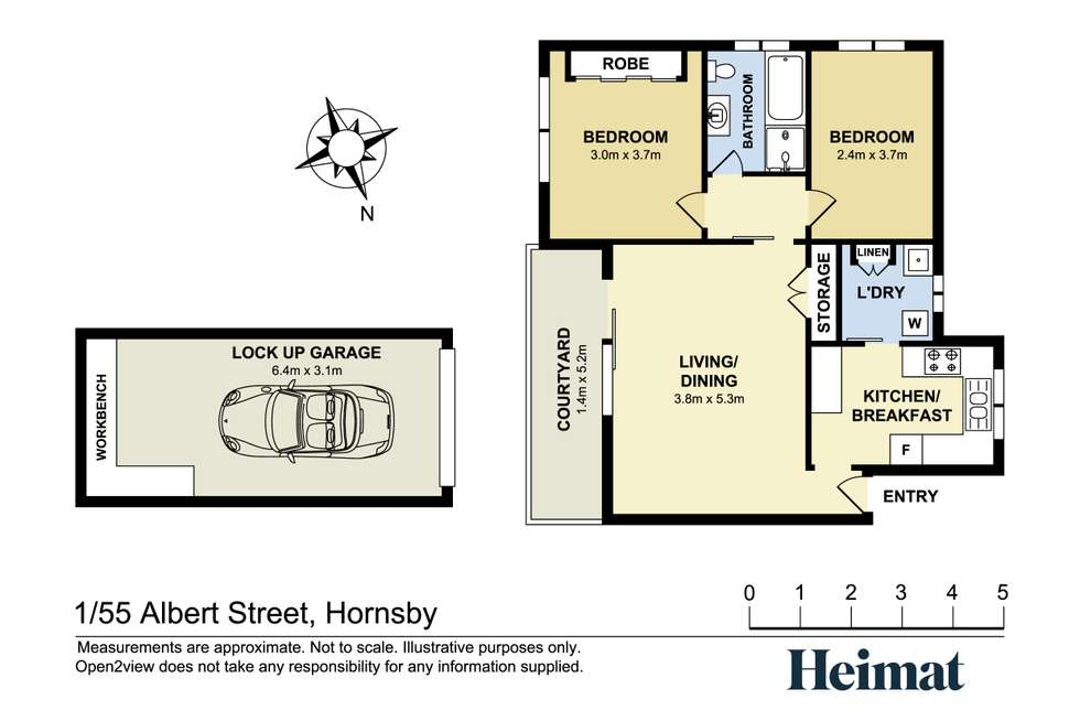 Floorplan of Homely apartment listing, 1/55 Albert Street, Hornsby NSW 2077