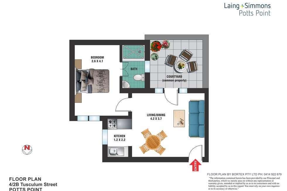 Floorplan of Homely apartment listing, 4/2B Tusculum Street, Potts Point NSW 2011