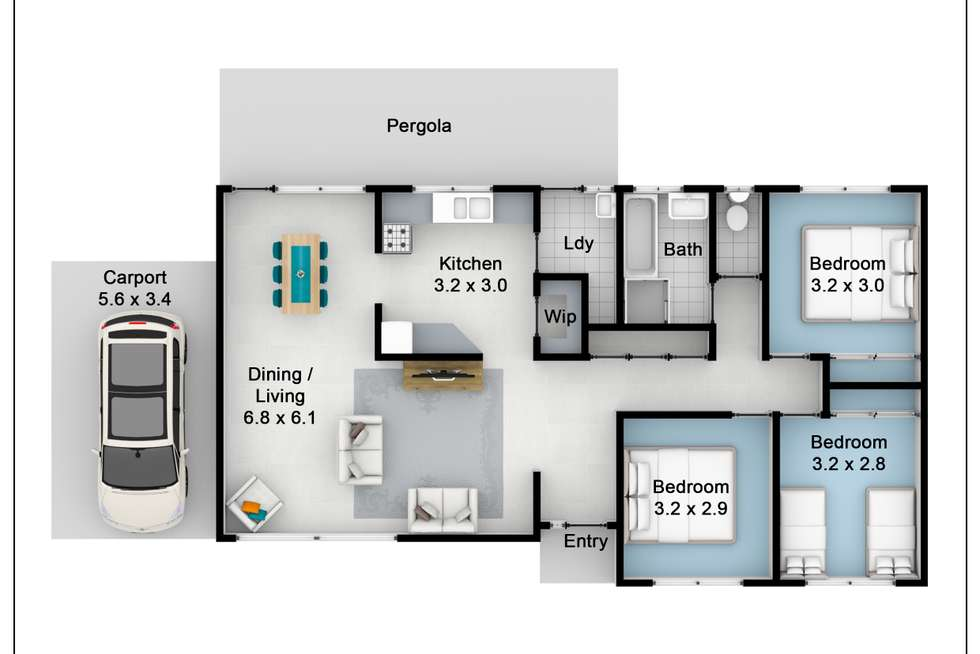 Floorplan of Homely house listing, 8 Caratel Crescent, Marayong NSW 2148