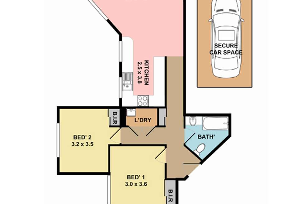 Floorplan of Homely apartment listing, 20/6-8 College Crescent, Hornsby NSW 2077