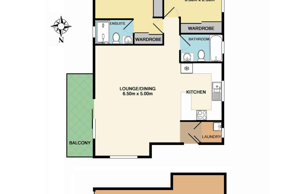 Floorplan of Homely unit listing, 5/42 Bridge Road, Hornsby NSW 2077
