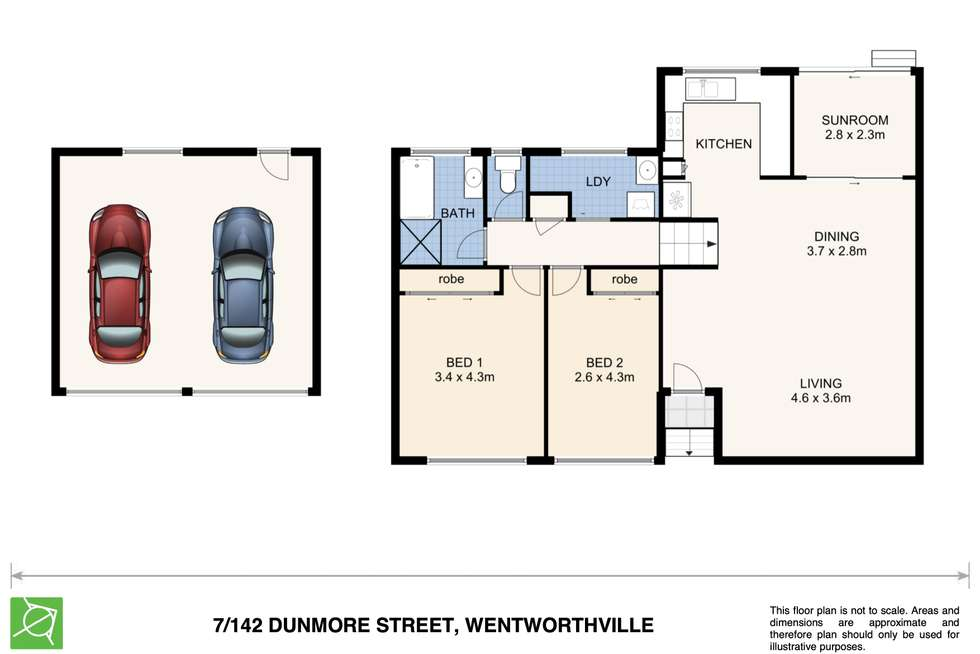 Floorplan of Homely townhouse listing, 7/142 Dunmore Street, Wentworthville NSW 2145