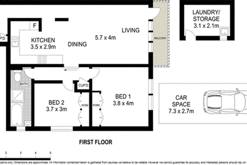 Floorplan of Homely unit listing, 8/16 Church Street, Hunters Hill NSW 2110