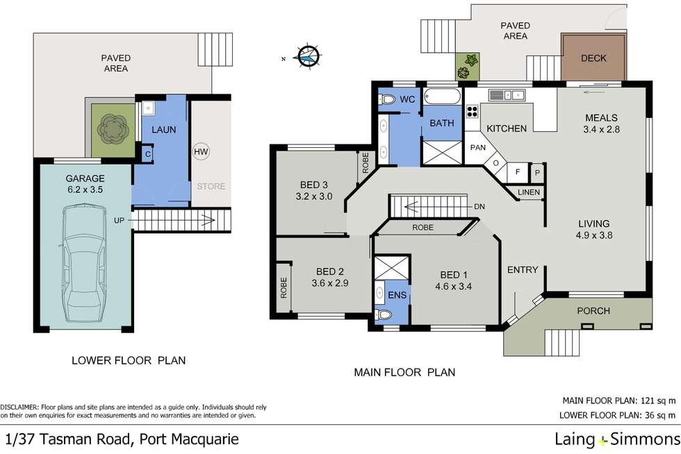 Floorplan of Homely semiDetached listing, 1/37 Tasman Road, Port Macquarie NSW 2444