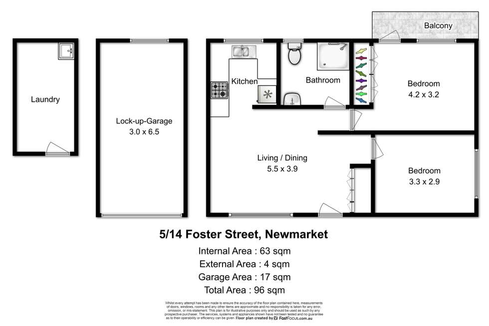 Floorplan of Homely unit listing, 5/14 Foster Street, Newmarket QLD 4051