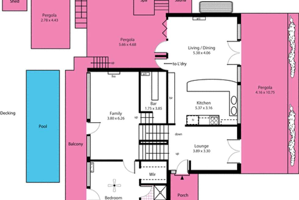 Floorplan of Homely house listing, 21 Karkoo Street, Seaview Downs SA 5049