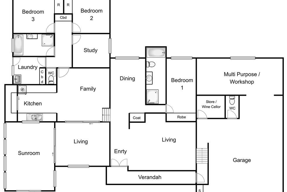 Floorplan of Homely house listing, 7 Keane Place, Fraser ACT 2615
