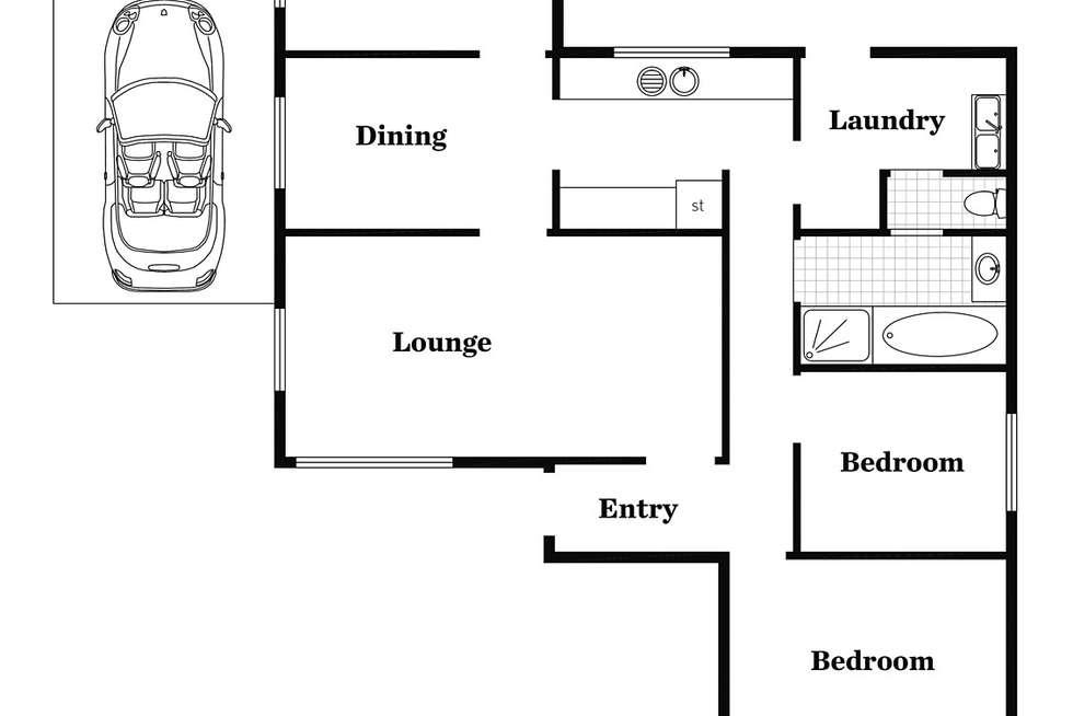 Floorplan of Homely house listing, 41 Glenhuntley Street, Woodville South SA 5011