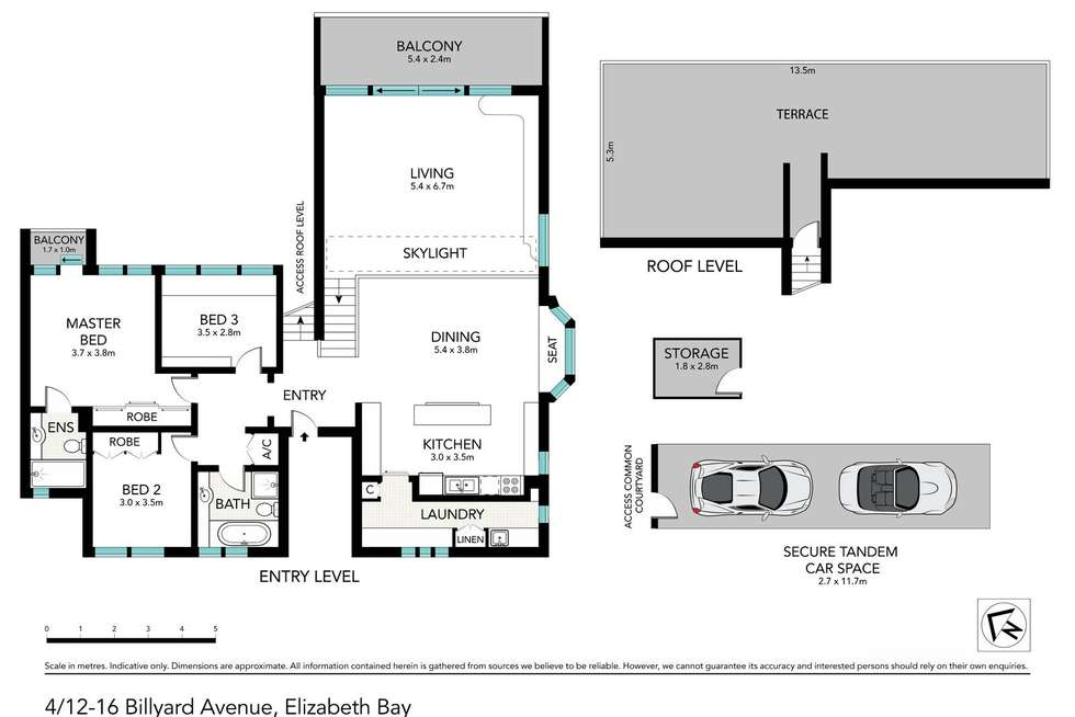 Floorplan of Homely apartment listing, 4/12-16 Billyard Avenue, Elizabeth Bay NSW 2011