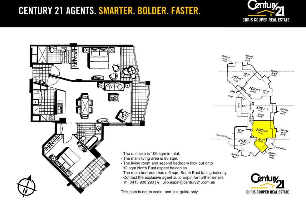 Floorplan of Homely unit listing, 2623-2633 Gold Coast Highway, Broadbeach QLD 4218