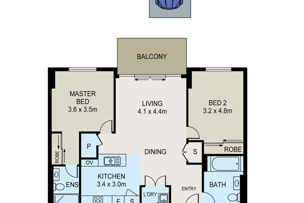 Floorplan of Homely apartment listing, 176/132-138 Killeaton Street, St Ives NSW 2075
