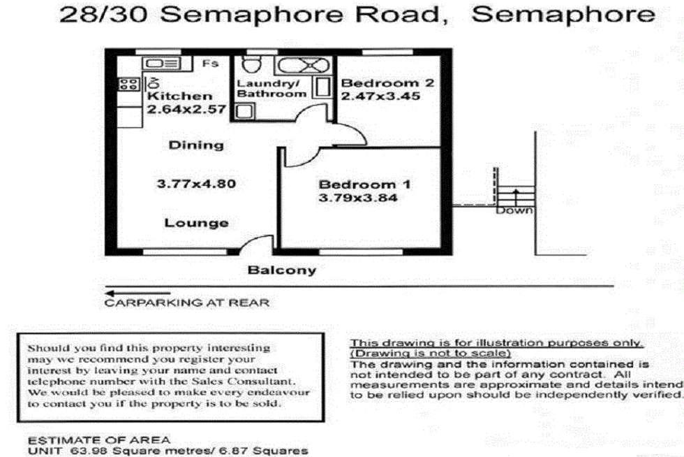 Floorplan of Homely unit listing, 28/30 Semaphore Road, Semaphore SA 5019