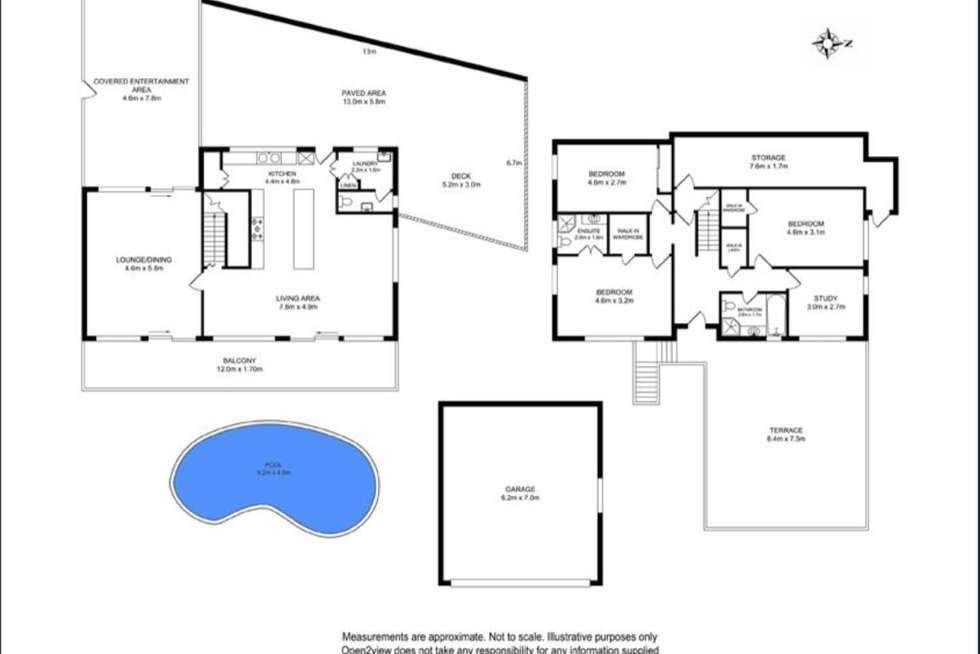 Floorplan of Homely house listing, 3 Aperta Place, Beacon Hill NSW 2100