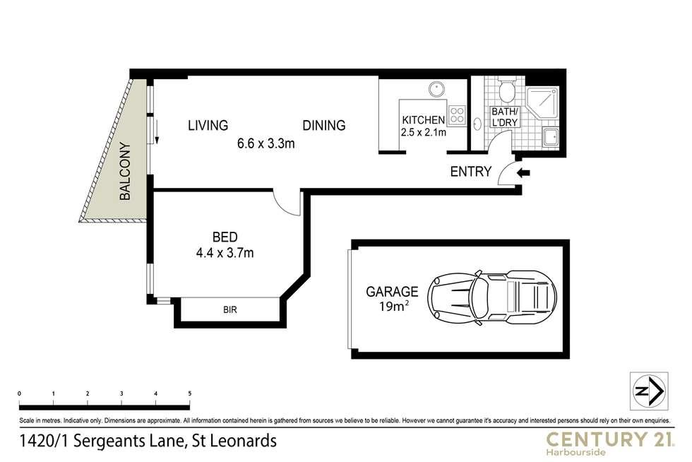 Floorplan of Homely apartment listing, 1420/1 Sergeants Lane, St Leonards NSW 2065