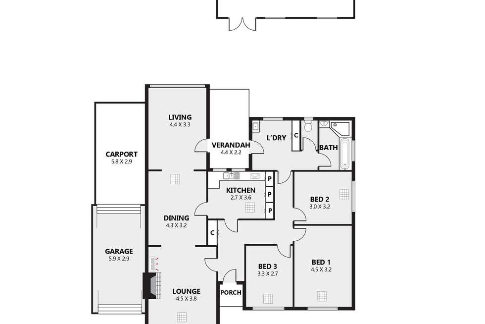 Floorplan of Homely house listing, 19 Minerva Crescent, Croydon Park SA 5008