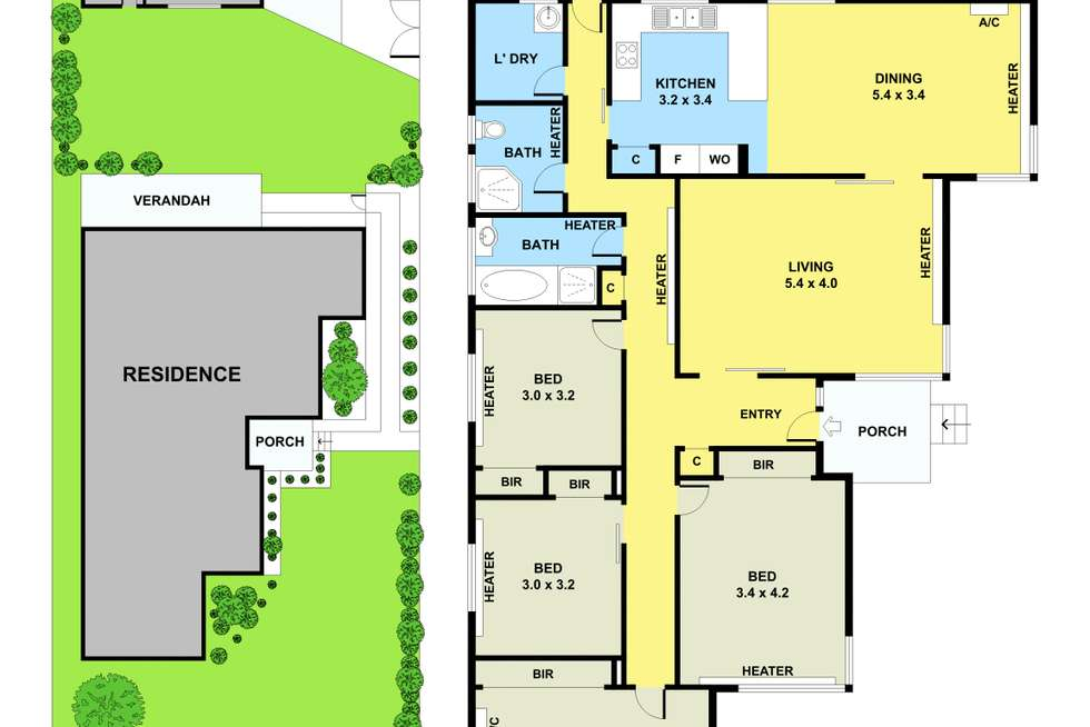 Floorplan of Homely house listing, 26 Shirley Street, Noble Park VIC 3174