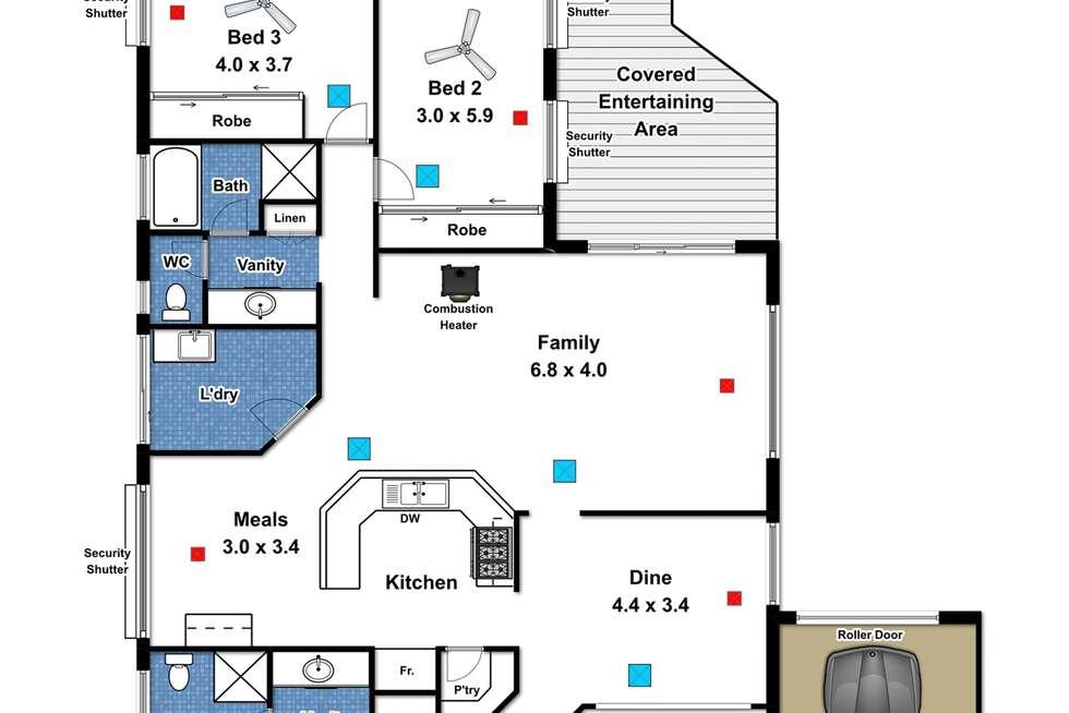 Floorplan of Homely house listing, 31 Dunalbyn Drive, Aberfoyle Park SA 5159