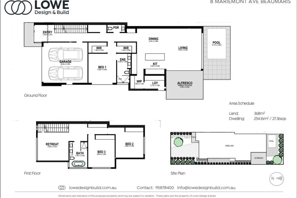 Floorplan of Homely townhouse listing, 8 Mariemont Avenue, Beaumaris VIC 3193