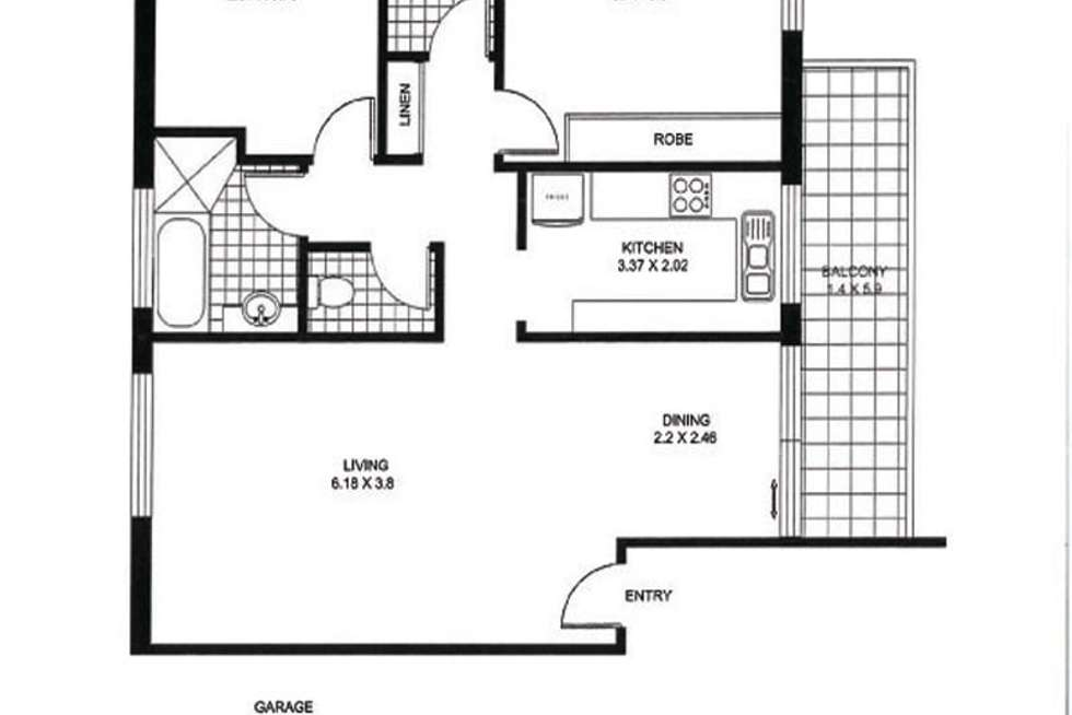 Floorplan of Homely apartment listing, 36/1c Kooringa Road, Chatswood NSW 2067
