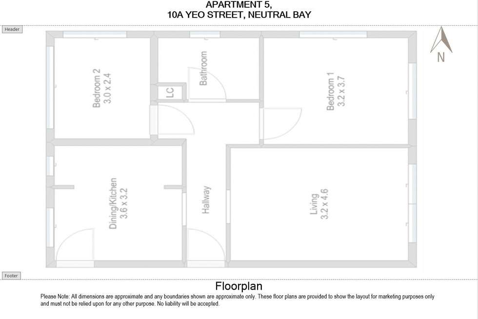 Floorplan of Homely apartment listing, 5/10A Yeo Street, Neutral Bay NSW 2089