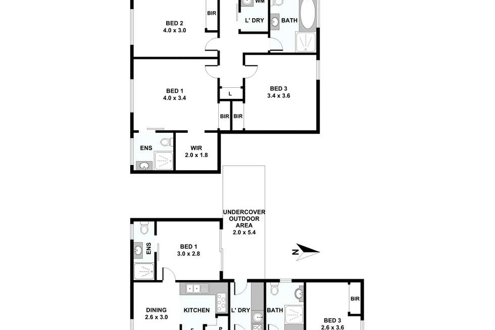 Floorplan of Homely house listing, 42 and 42A Percy Street, Marayong NSW 2148
