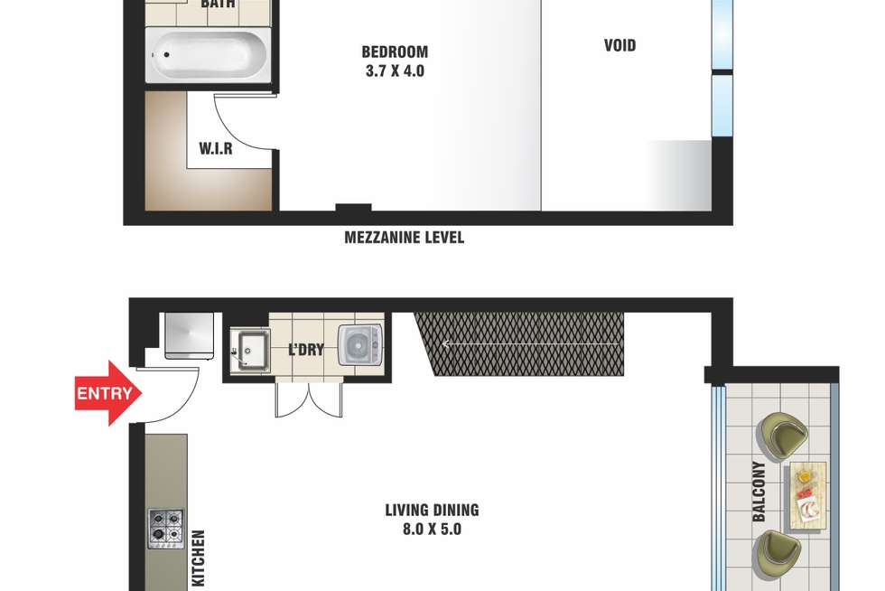 Floorplan of Homely apartment listing, 21/8-14 Brumby Street, Surry Hills NSW 2010
