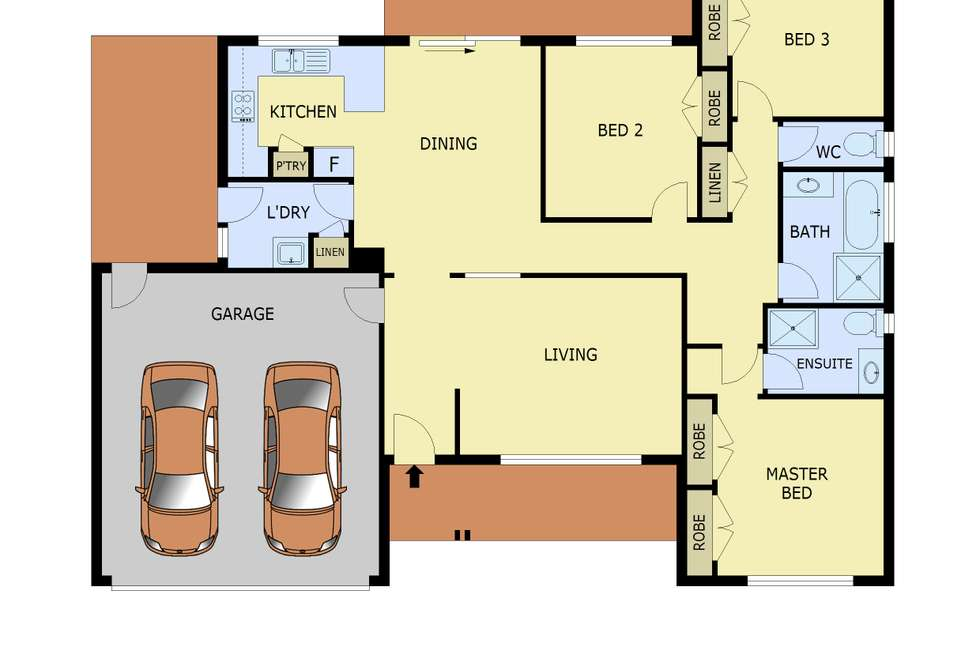 Floorplan of Homely house listing, 8 Acre Court, Pakenham VIC 3810