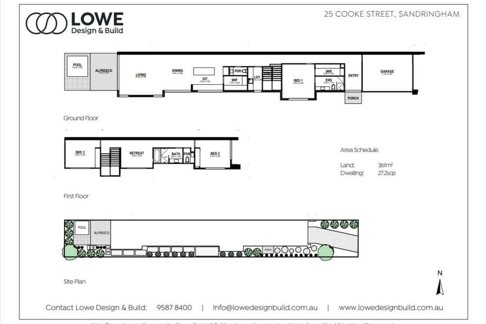 Floorplan of Homely townhouse listing, 25b Cooke Street, Sandringham VIC 3191