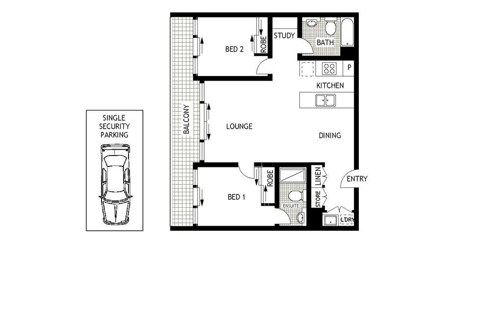 Floorplan of Homely apartment listing, 49/3 Defries Avenue, Zetland NSW 2017