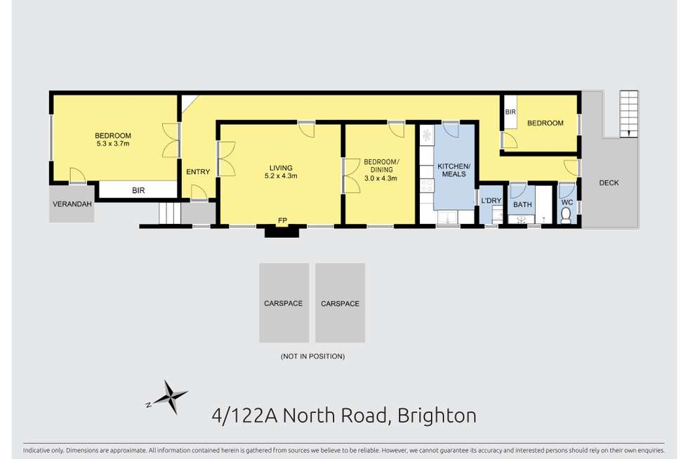 Floorplan of Homely apartment listing, 122A North Road, Brighton VIC 3186