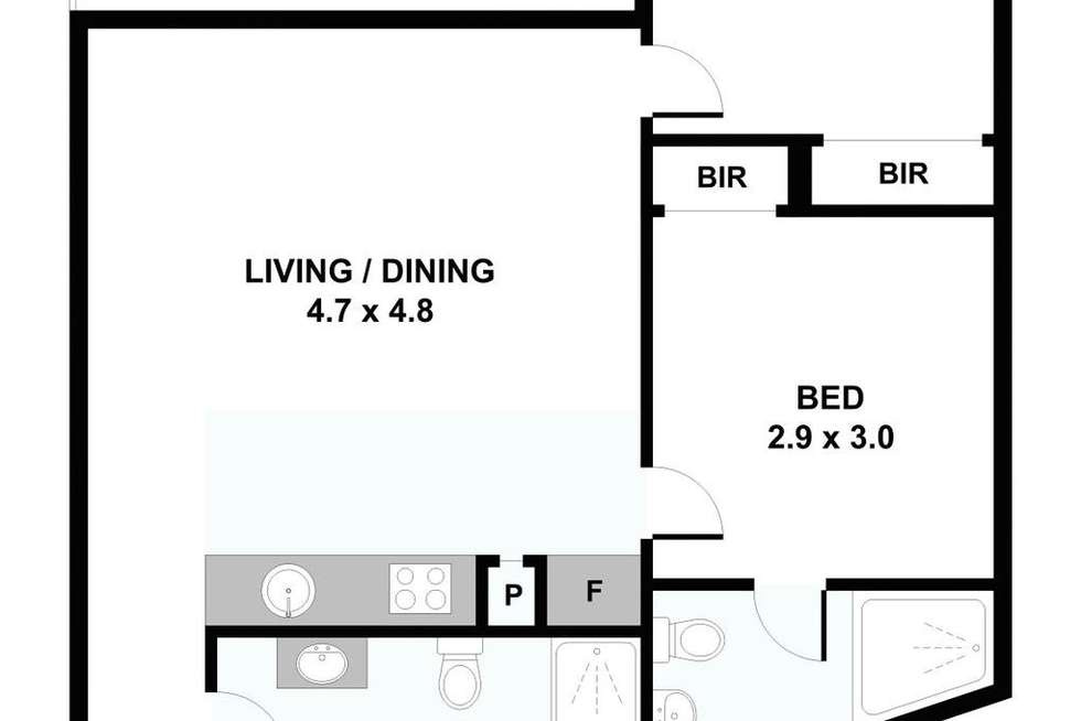 Floorplan of Homely apartment listing, 1208/673-683 La Trobe Street, Docklands VIC 3008