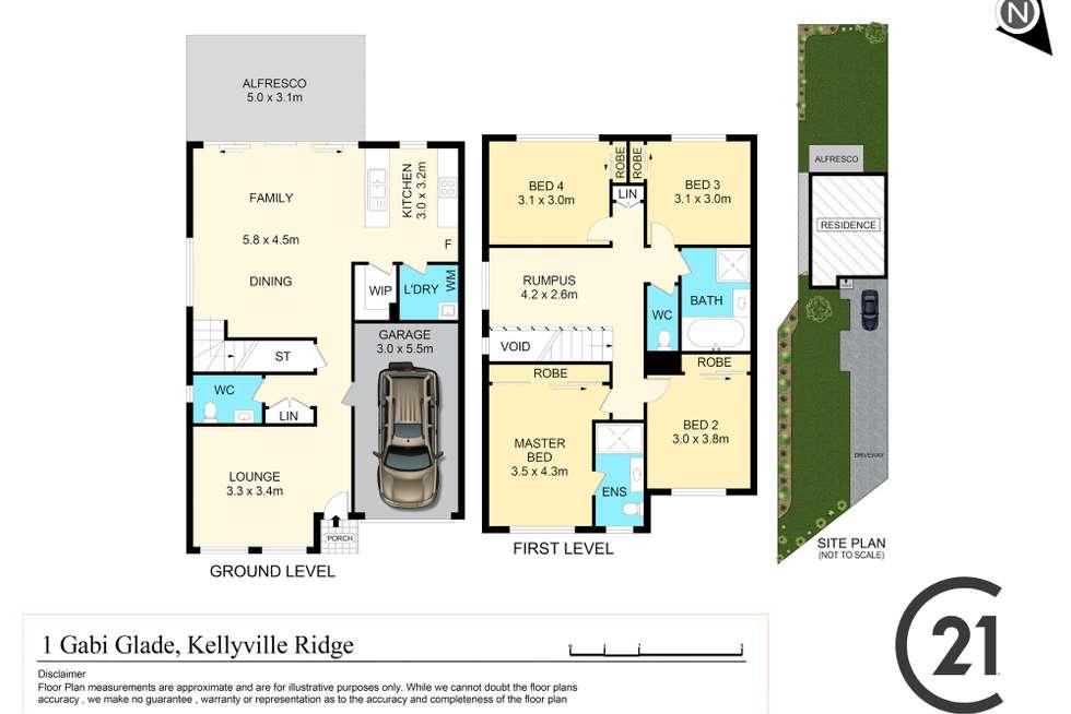 Floorplan of Homely house listing, 1 Gabi Glade, Kellyville Ridge NSW 2155