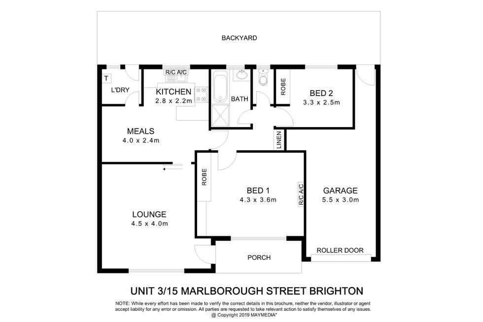 Floorplan of Homely house listing, 3/15 Marlborough Street, Brighton SA 5048
