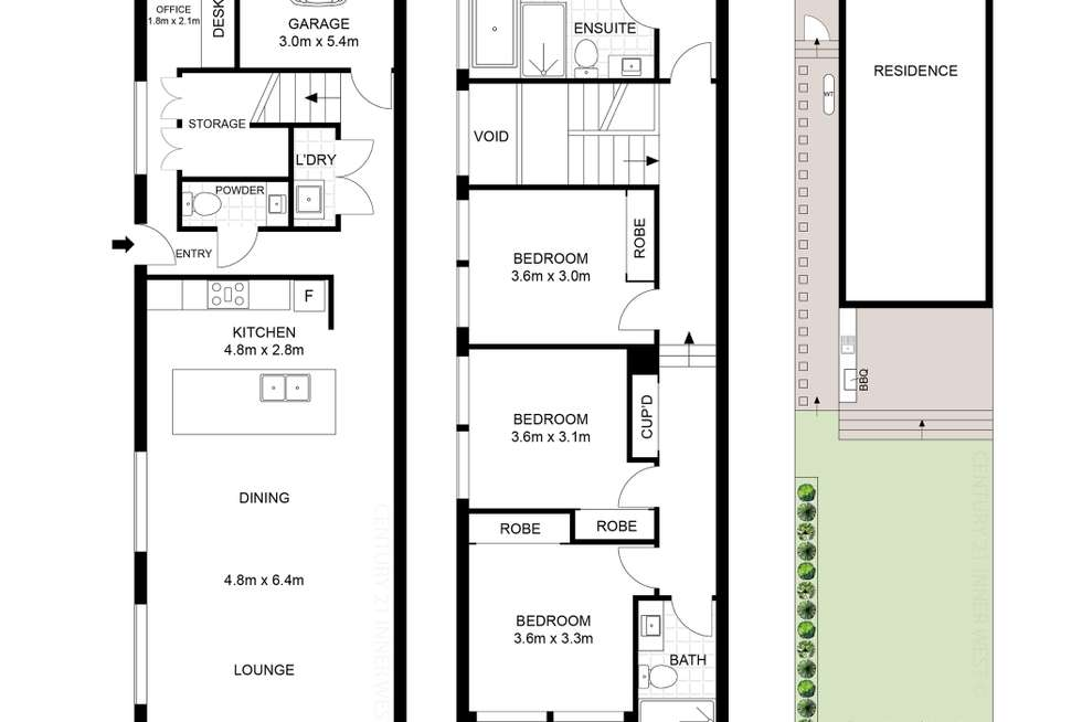 Floorplan of Homely semiDetached listing, 28A Burke Street, Concord West NSW 2138