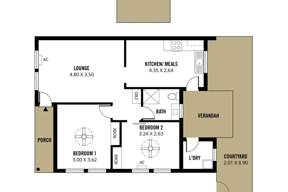 Floorplan of Homely unit listing, 10/9 Preston Avenue, Brighton SA 5048