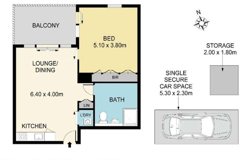 Floorplan of Homely apartment listing, 307B/3 Broughton St, Parramatta NSW 2150