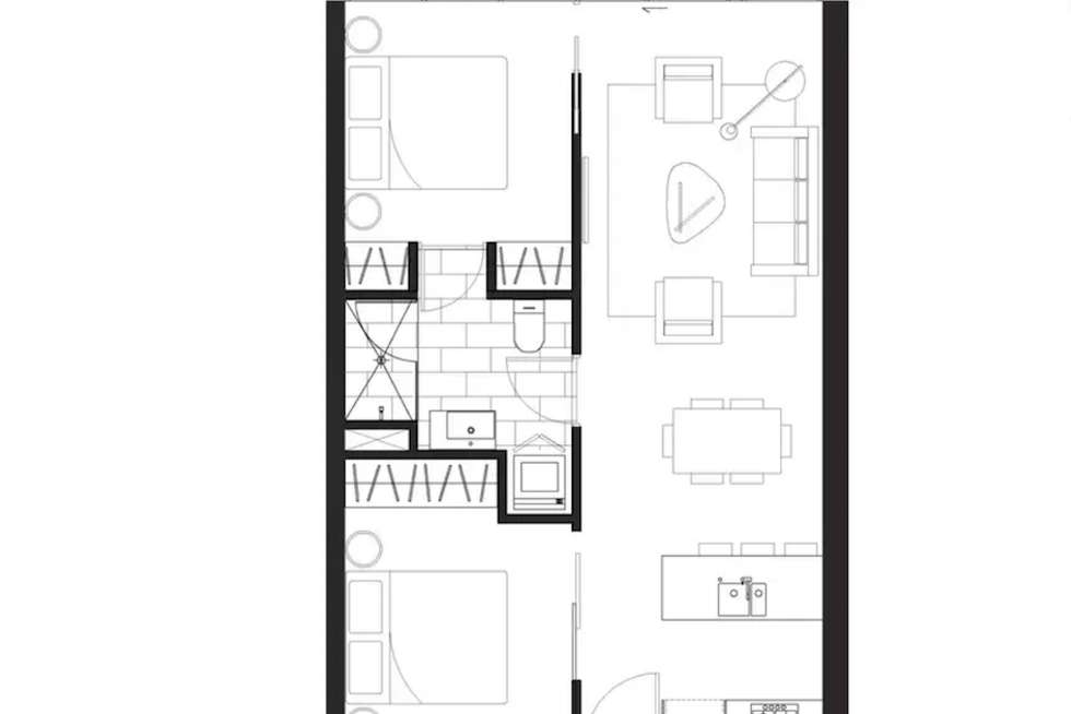 Floorplan of Homely apartment listing, 2304/250 City Road, Southbank VIC 3006