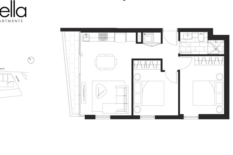 Floorplan of Homely apartment listing, 2807/250 City Road, Southbank VIC 3006