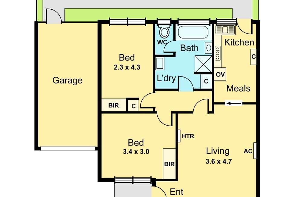 Floorplan of Homely unit listing, 10/37 Murray Road, Ormond VIC 3204