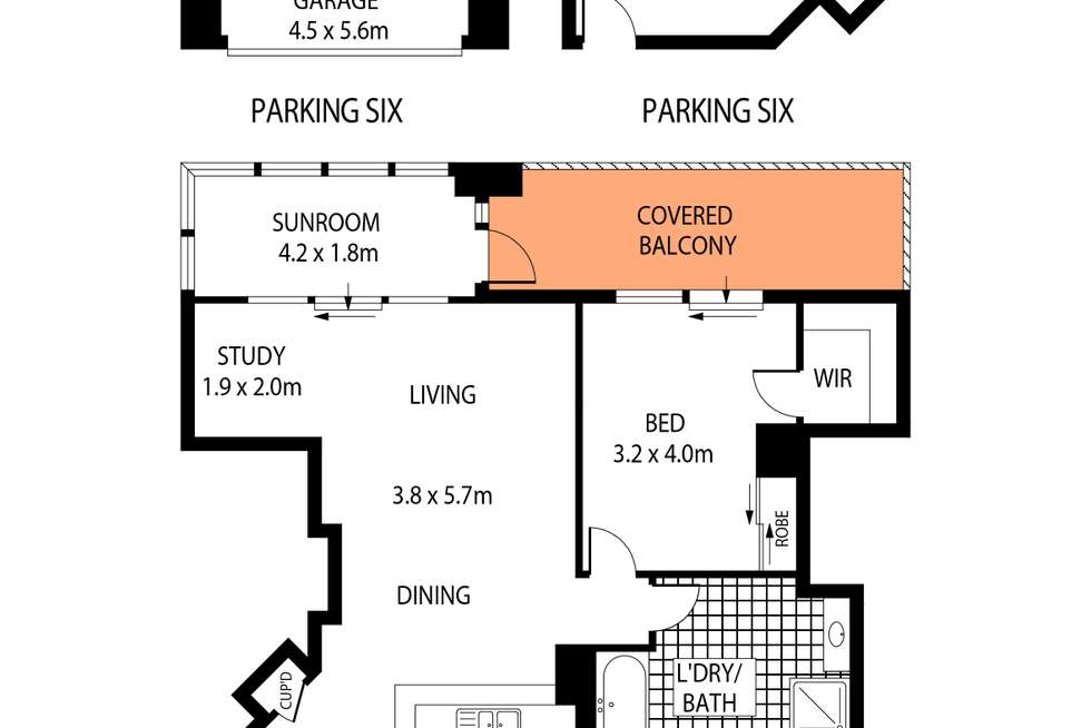 Floorplan of Homely apartment listing, 253/303 Castlereagh St, Sydney NSW 2000