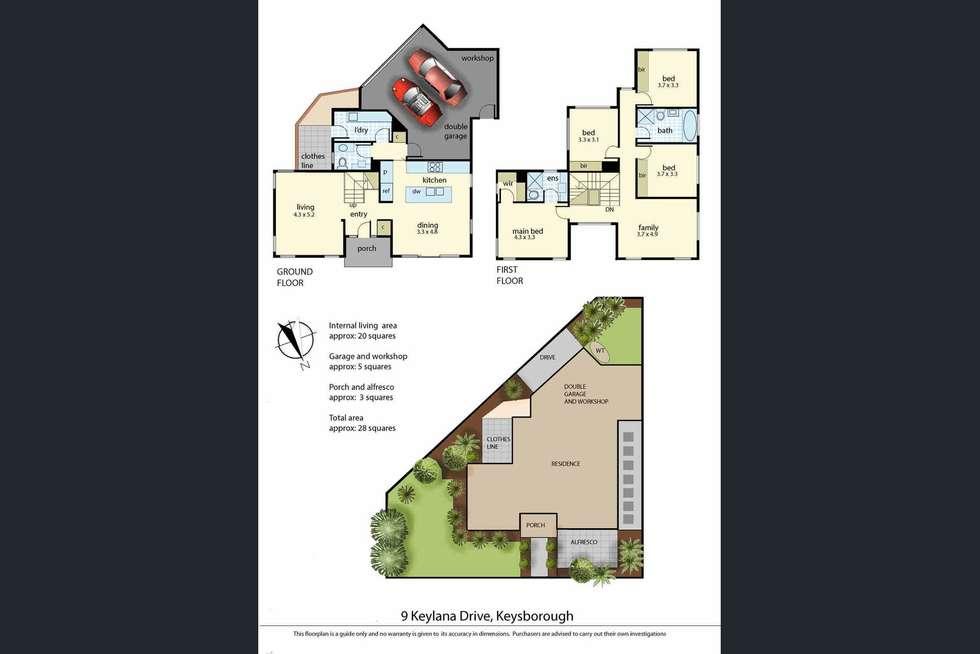 Floorplan of Homely house listing, 9 Keylana Drive, Keysborough VIC 3173