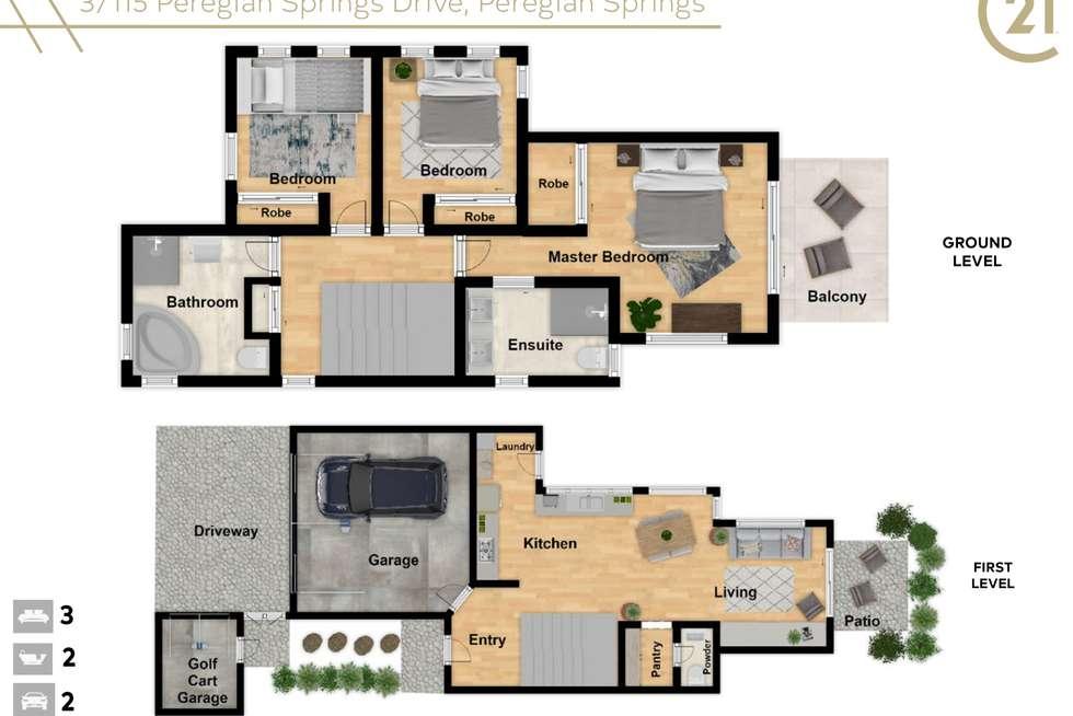 Floorplan of Homely house listing, 3/115 Peregian Springs Drive, Peregian Springs QLD 4573