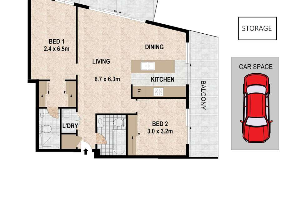 Floorplan of Homely apartment listing, 48/459-463 Church Street, Parramatta NSW 2150