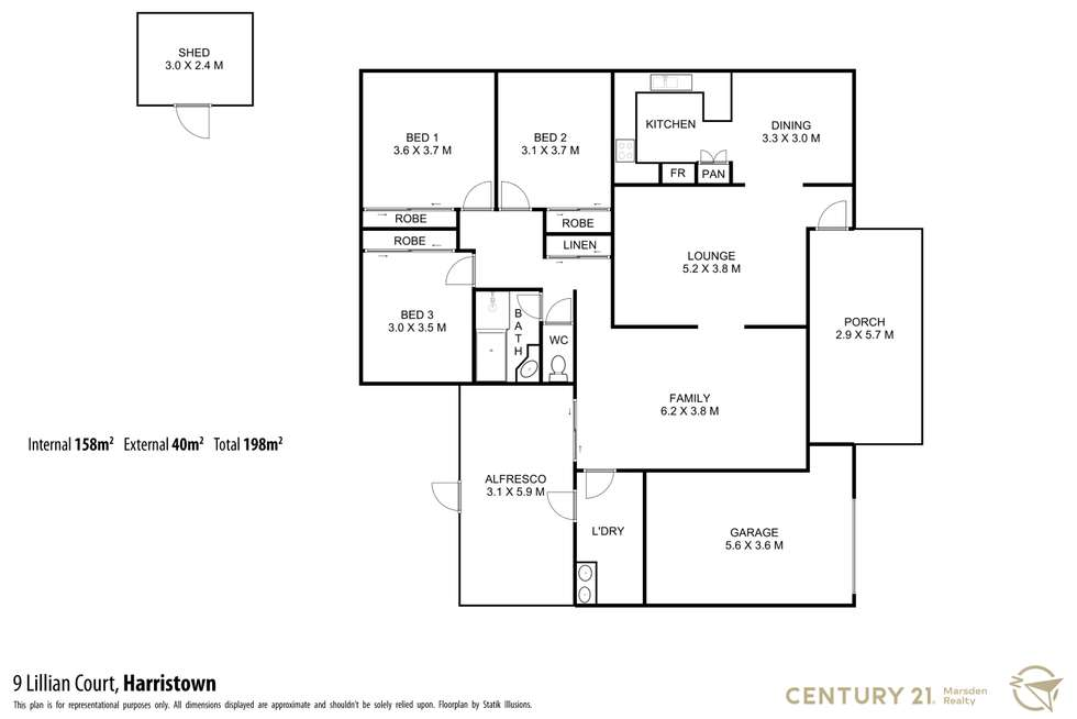 Floorplan of Homely house listing, 9 Lillian Court, Harristown QLD 4350