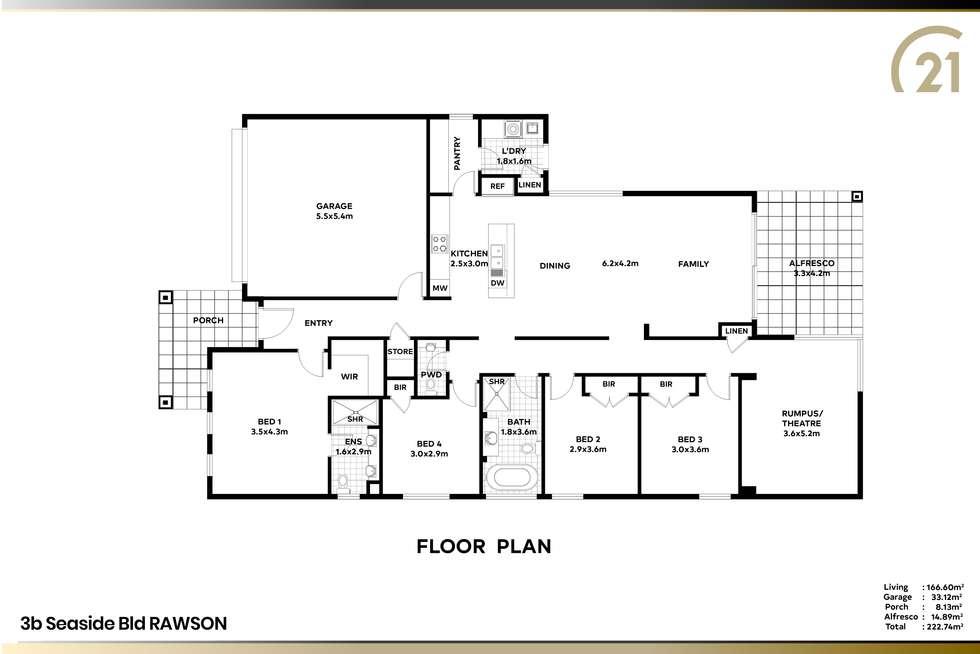 Floorplan of Homely house listing, 3B Seaside Bld, Fern Bay NSW 2295